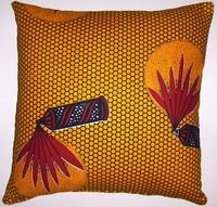 AW15 Untreated cotton African wax print pillow cover
