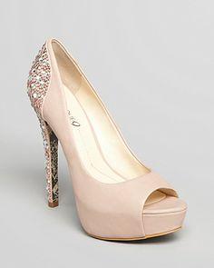 6e5530e8e Boutique 9 Pumps - Cary Platform Glitter Back Shoes - Bloomingdale s