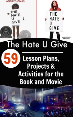 59 Hate U Give lesson plans to use with books about racism for kids. Perfect for diversity activities for kids, race relations activities for teen studies. #hateugive #teenbooks #lessonplans #teaching #homeschooling
