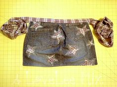 Cute apron made from repurposed jeans.
