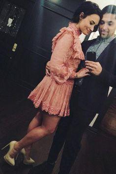 Demi Lovato wearing Saint Laurent Classic Janis Pumps