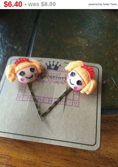 Spring Sale Cartoon Character Bobby pins  hair pins   by EMTWTT
