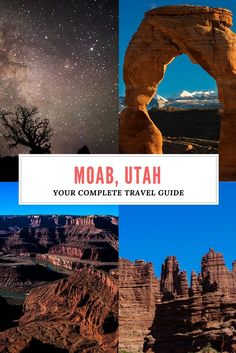 The complete travel guide to Moab, Utah Travel is the movement of people between distant geographica Las Vegas, Nationalparks Usa, Places To Travel, Travel Destinations, Utah Vacation, Vacation List, Vacation Travel, Vacation Ideas, Moab Utah