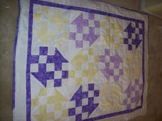 This was the first quilt I made from my own design....I thank my son big time for the help with the math.