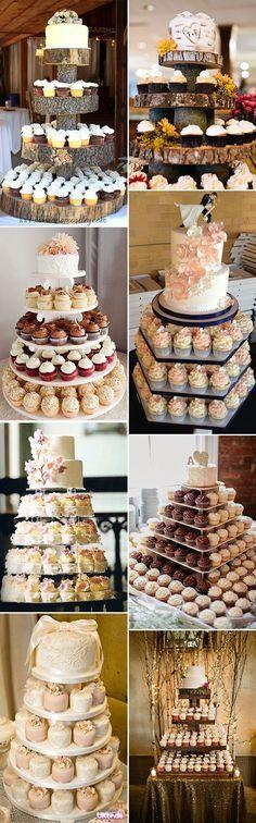 alternative cupcake wedding cake ideas