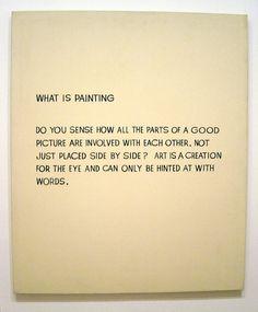 john baldessari what is painting | John Baldessari - What Is Painting - a photo on Flickriver