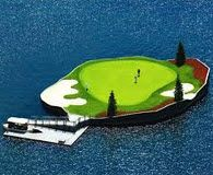 Beautiful Cordelane Idaho floating green that can be moved to desired yardage...cool huh???