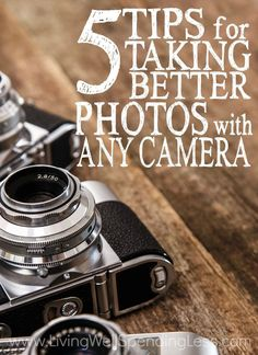 Ever wish you could take better photos, even if just with your phone? The truth is that good photography is more about the photographer than the camera, and ANYONE can take better photos! Don't miss these 5 simple tips for taking better photos with any camera!