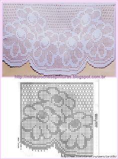 REGINA RECEITAS DE CROCHE E AFINS: crochés filet graficos.