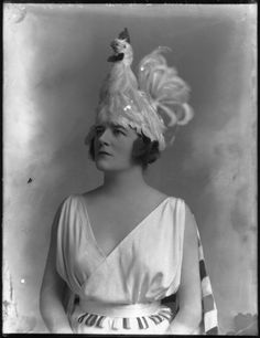 Chicken hats make everything better. Alice Delysia, 1918    National Portrait Gallery, London
