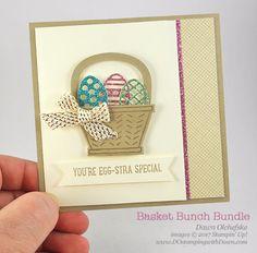 Stampin' Up! Basket Bunch Bundle card created by Dawn Olchefske for DOstamperSTARS Thursday Challenge #DSC221 #dostamping