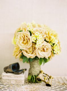 creamy yellow//parchment - love these shades for wall color.