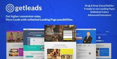 Download and review of Getleads High-Performance Landing Page WordPress Theme, one of the best Themeforest Corporative themes