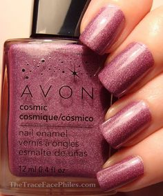 So cute Avon Cosmic Nailpolish in Aurora - a pink holographic polish Avon Nail Polish, Avon Nails, My Nails, Cosmic Nails, Great Nails, Nail Polish Collection, You Nailed It, Nail Colors, Enamel