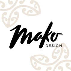 Mako Design - logo. At Mako Design we create jewellery inspired by traditional Māori design, combined with contemporary style. Through our collection we want to celebrate the beauty of Māori culture and design.
