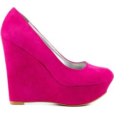 Brighten up any day with this colorful pump by Veda Soul. Genevieve features a soft and vibrant pink suede like fabric. A 5 inch wedge and 1 1/2 inch closed to…