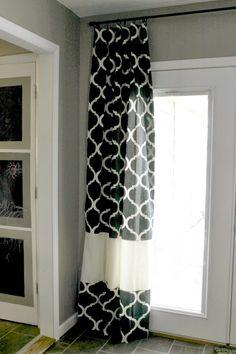 Adding length to curtains, tutorial. Grace Lee Cottage: DIY Semi-Custom Curtains {A Tutorial}