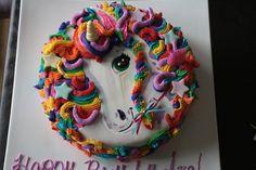 Lisa Frank Inspired Unicorn Cake
