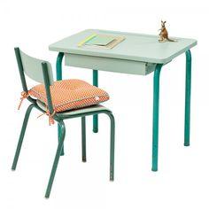 """Bureau et chaise d'école """"Manolo"""" #rienacirer  #vintage"""