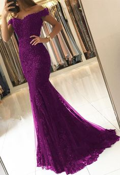 Off Shoulder Lace V-neck Mermaid Prom Dresses Purple Formal Evening Gowns Off Shoulder Lace V-neck Mermaid Evening Dresses Purple Evening Dresses Dark Purple Prom Dresses, Mermaid Prom Dresses, Purple Dress, Bridesmaid Dresses, Wedding Dresses, Purple Evening Dress, Straps Prom Dresses, Turquoise Dress, Purple Lace