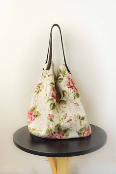 Tote bag Casual... reversible... 44... Canvas & leather