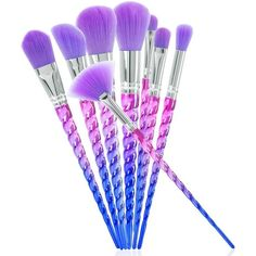 c781de5a1 Thread Purple Beauty Make up Brushes Eyeshadow Eyeliner Brushes Set Tools  in Health & Beauty, Makeup, Makeup Tools & Accessories
