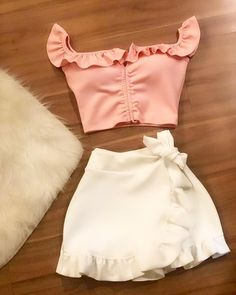 Casual Skirt Outfits, Crop Top Outfits, Outfits With Hats, Stylish Outfits, Dress Outfits, Cute Outfits, Fashion Outfits, Womens Fashion, Wedding Dress Outlet