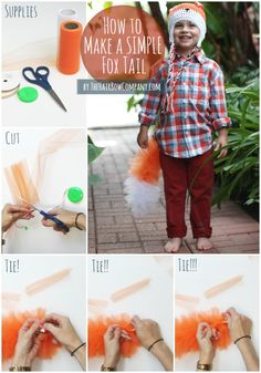 Woodland Animals | Simple Sibling Costumes | How to make a fox tail