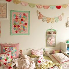 For a little one's room. I love the various quilted things!