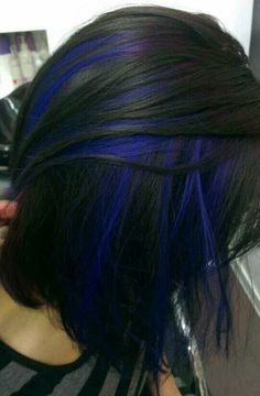 blue hair streaks More