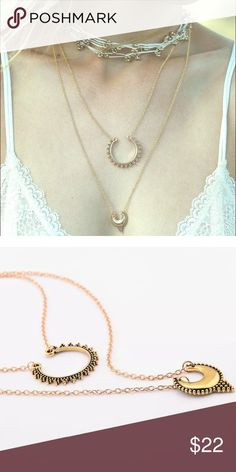 ✨MELISANDRË NECKLACE ✨ Gorgeous gold plated necklace (2 layers) Perfect for layering and boho outfit vibe ✨✨ not by FP Tagged for style only Free People Jewelry Necklaces