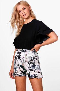 FarJing Women Casual Plaid Printed Bow Shorts Pants