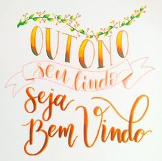 Outono, Fall - Calligraphy and Handlettering