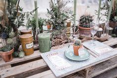 Greenery Hochzeit Tischdekoration