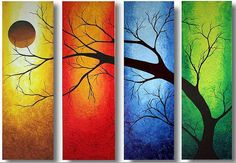 "High Quality Abstract Oil Painting On Canvas:""Tree Art"""