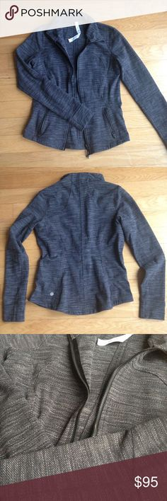 NWOT Lululemon Forme Jacket Purchased a few years ago. New condition. Thumb holes, two zipper exterior pockets. Amazing, thick, sturdy material. lululemon athletica Jackets & Coats
