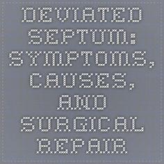 Deviated Septum: Symptoms, Causes, and Surgical Repair
