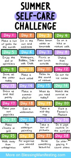 31 Summer Self-Care Ideas - Blessing Manifesting