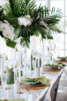 Best Wedding Reception Decoration Supplies - My Savvy Wedding Decor Wedding Themes, Wedding Colors, Wedding Decorations, Table Decorations, Wedding Ideas, Centerpiece Ideas, Tropical Wedding Centerpieces, Tropical Wedding Decor, Tropical Weddings