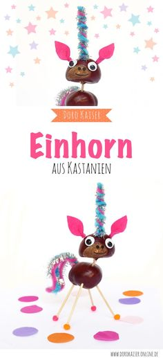 basteln-mit-kindern-einhorner-aus-kastanien/ delivers online tools that help you to stay in control of your personal information and protect your online privacy. Autumn Crafts, Nature Crafts, Diy For Kids, Crafts For Kids, Children Crafts, Preschool Crafts, Halloween Stickers, Handicraft, Graphic Illustration