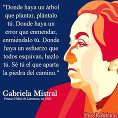 doña Gabriela Mistral Latin American Literature, Positive Quotes, Motivational Quotes, The Book Thief, Spiritual Messages, Book Images, Spanish Quotes, Some Words, Meaningful Quotes