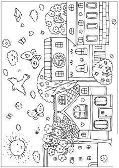 Petit Village au printemps