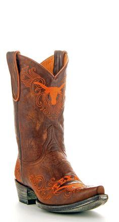 Womens UT Gameday boots -- Hook 'em horns!