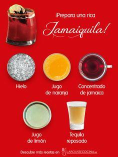 ¡Sorprende a tus amigos con este coctel inspirado en la flor de Jamaica! Conoce la receta completa. #coctel #cocktail #Jamaica #flordeJamaica #receta #cocktailrecipe #tequila