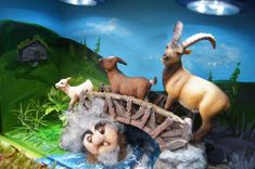 Small World Play for The Three Billy Goats Gruff (from Fantasifantasten.no)