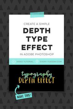 Create a Simple Depth Typography Effect in Adobe Photoshop | video tutorial via @teelac