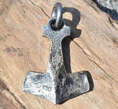 BIFRÖST Forged THOR's HAMMER Pendant Necklace Viking Mjollnir Mjolnir Mjolner