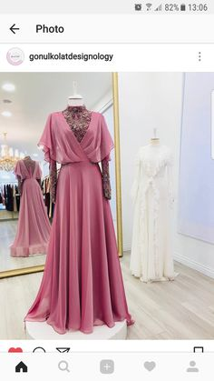 I think this is such a fun dress & it's great that it also has this air of intelligence & almost gives off this princessy vibe which I'm not usually all for but i really like in this piece Muslim Fashion, Modest Fashion, Hijab Fashion, Fashion Clothes, Fashion Dresses, Fasion, Women's Fashion, Indian Gowns Dresses, Evening Dresses