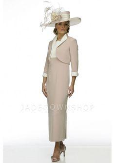 Scoop Neckline Satin Mother Of The Bride Dress With Jacket 8n31232