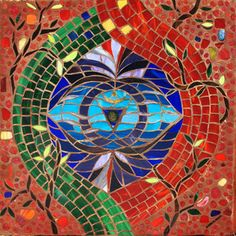 10A Sixth Chakra - Ajna, Mosaic Labyrinth, 10A - 43/52